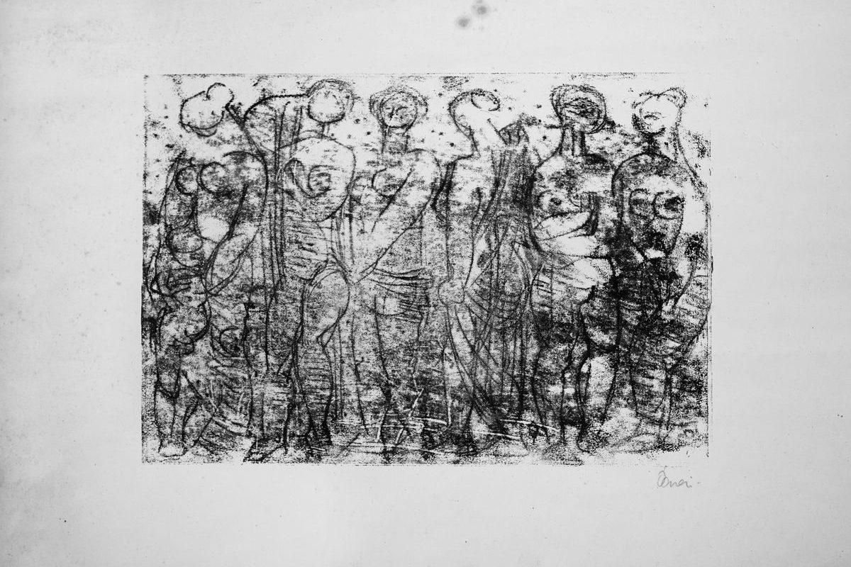 Hat álló nőalak, 1964 előtt
