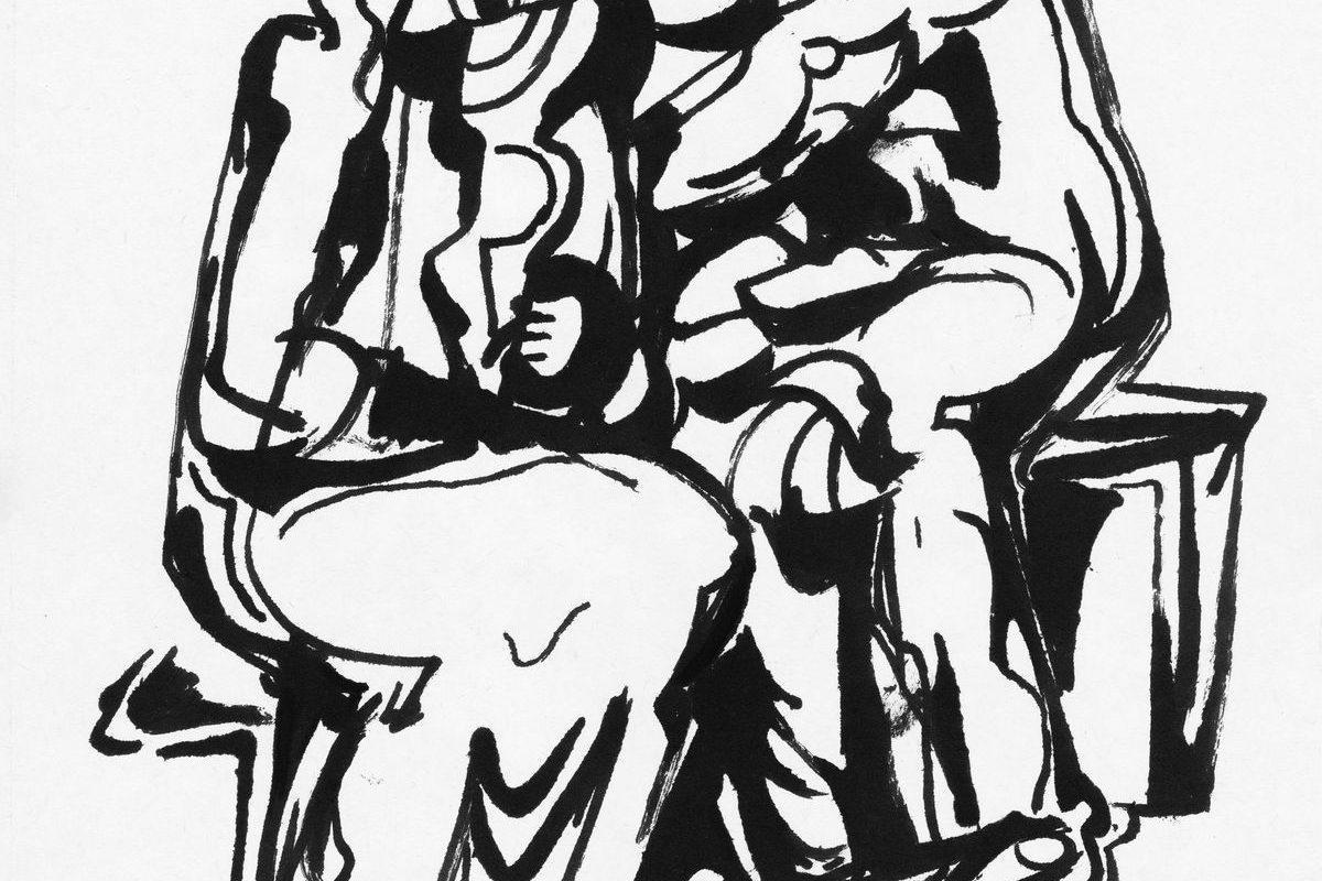 Két ülő nő, 1971 k
