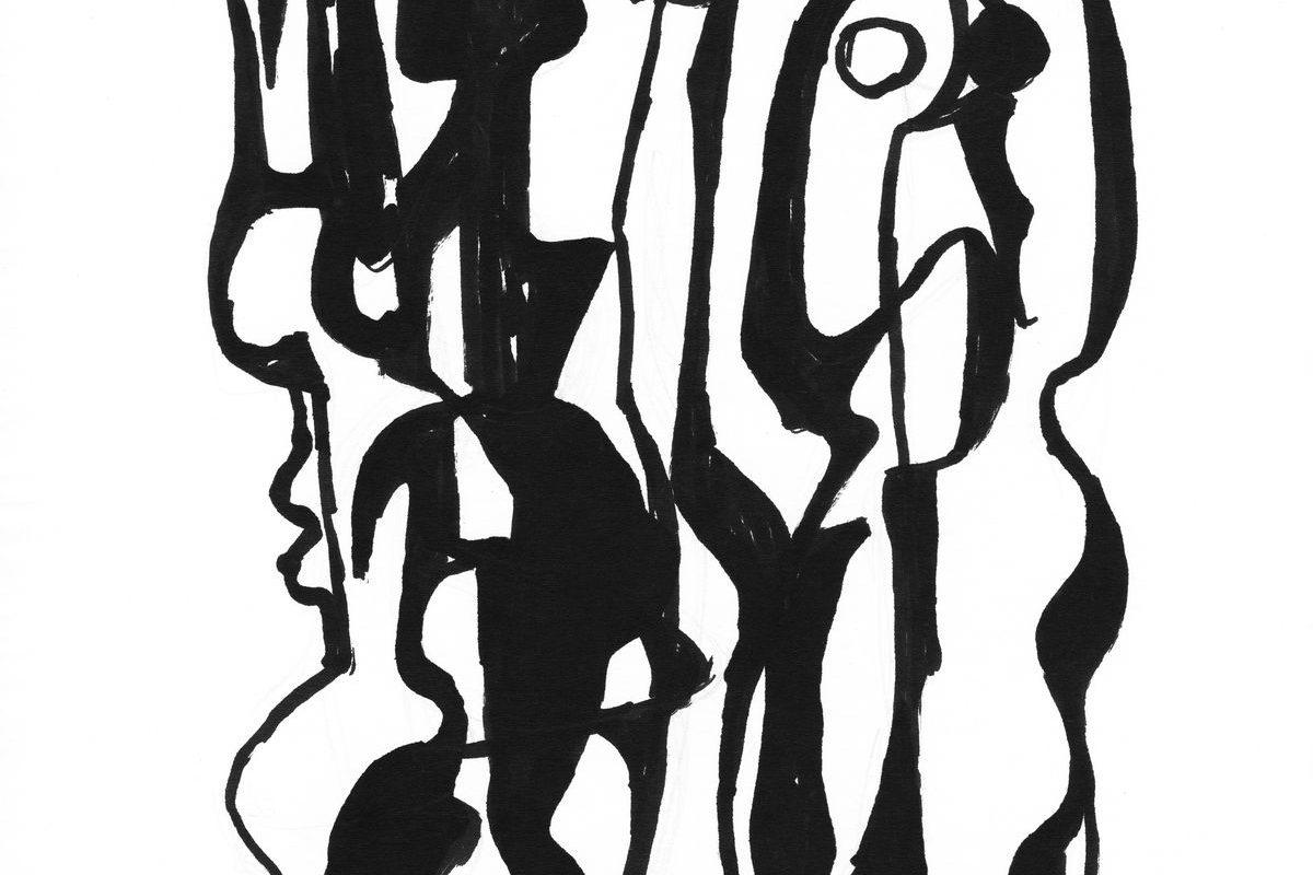 Két álló figura, 1971 k.